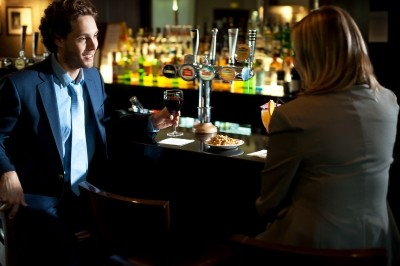 business man in bar